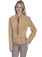 Scully Leather Suede Concho Jacket