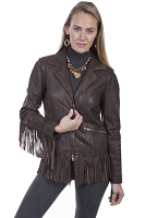 Scully Leather Fun Loving Fringe Leather Jacket