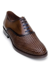 Belvedere Ezra Antique Copper Soft Woven Nappa Leather Shoes
