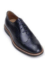 Belvedere Felipe Navy & Burgundy Soft Italian Nappa Leather Shoes