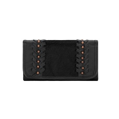 Cow Town Collection Tri-Fold Wallet - 4120282 Black