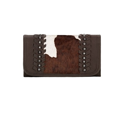 Cow Town Collection Tri-Fold Wallet - 4150282 Chocolate