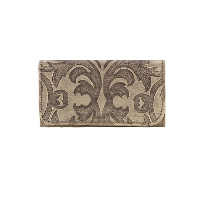 Baroque Collection Tri-Fold Wallet - 6052282 Sand