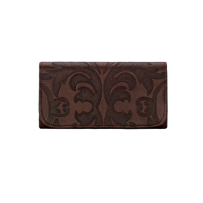 Baroque Collection Tri-Fold Wallet - 6085282 Chestnut