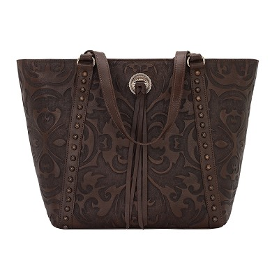 Baroque Collection Tote - Chestnut