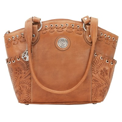 American West Harvest Moon Collection Zip-Top Bucket Tote - Golden Tan