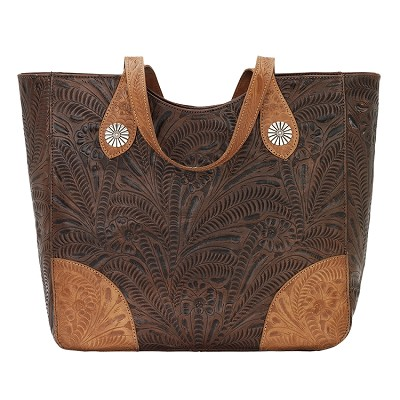 Annie's Secret Zip Top Tote - Chestnut Brown