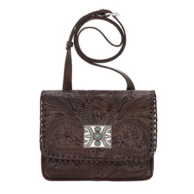 Grand Prairie Collection Flap Bag - Chestnut Brown