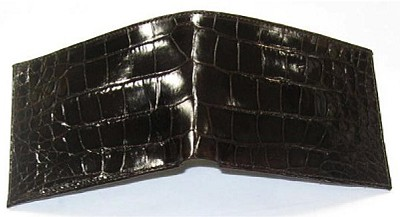 Handmade Belly Alligator Wallet - Brown