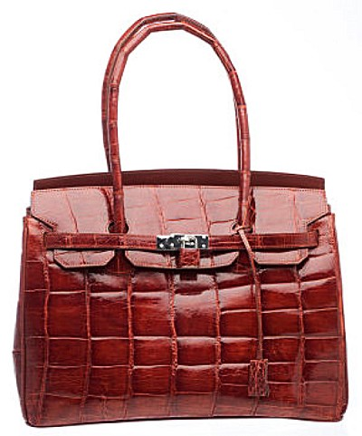 Alligator Kelly Ferrini Purse Black, Chocolate, Cognac