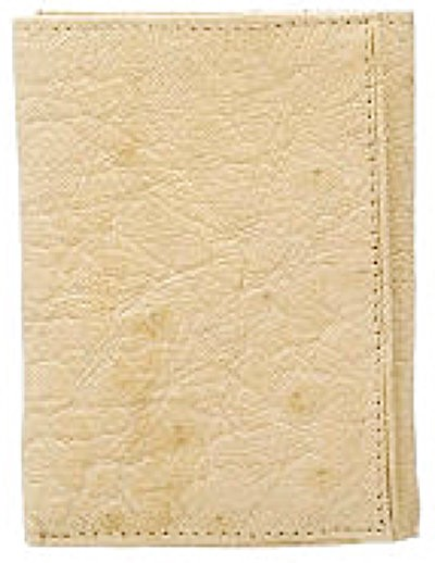 Smooth Ostrich Trifold - Bone/Winter White