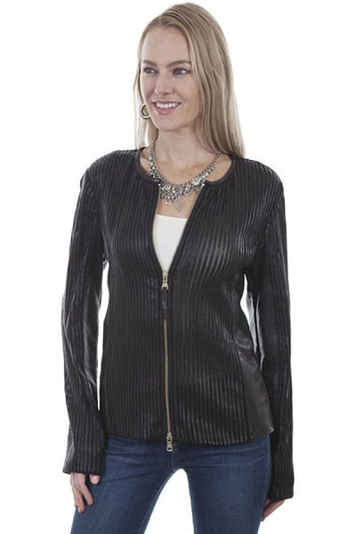 Scully Leather Featuring Elasticized Panels - Black