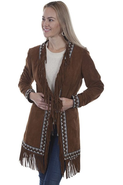 Scully Leather Suede Fringe Coat