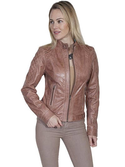 Scully Leather Zip Front Leather Jacket