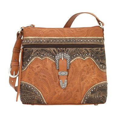 Saddle Ridge Zip Top Shoulder Bag - Golden Tan