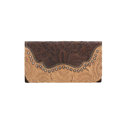 Saddle Ridge Tri-Fold Wallet Chestnut Brown