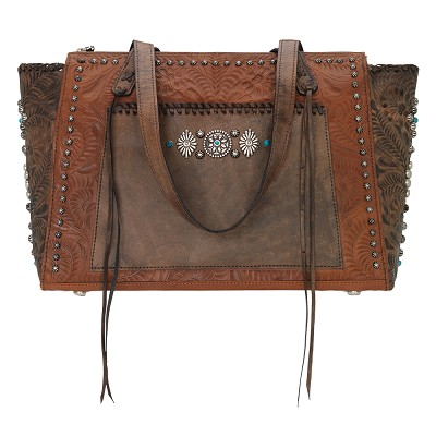 Rio Grand Collection Zip Top Tote Antique Brown