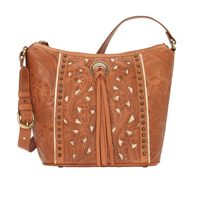 Hill Country Zip Top Bucket Tote Golden Tan
