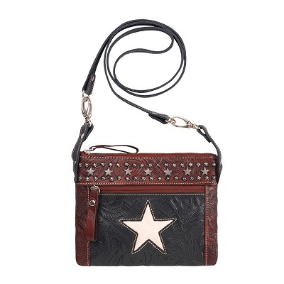 Trail Rider Crossbody / Hip Bags - Navy Blue / Distressed Crimson