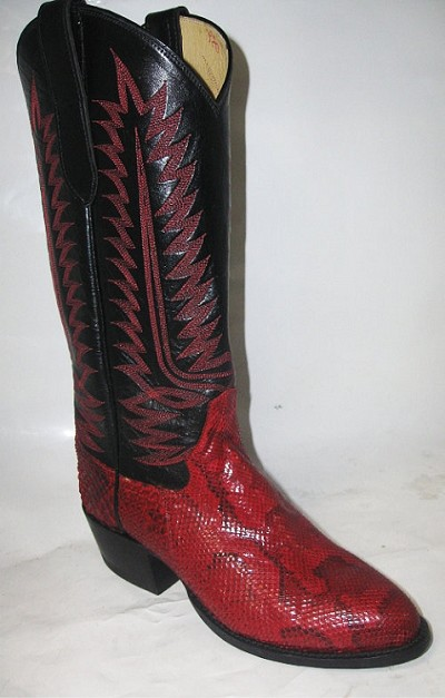 "Woman's Handmade Python Height 13"" - Red"