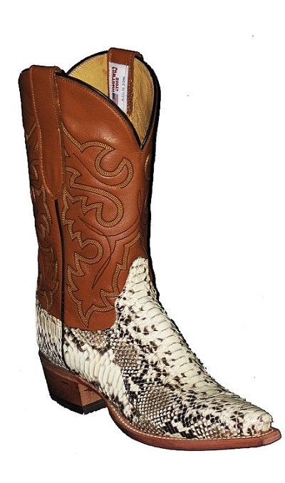 "Woman's Handmade Natural Python Height 10"" - Natural/Camel"