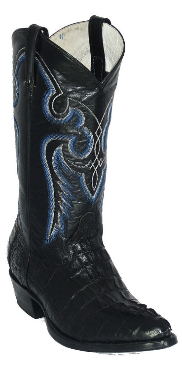Caiman Crocodile Tail Cut 576 - Black