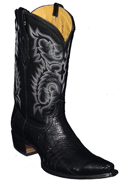 "Ostrich Leg Height 13"" 869 - Black"