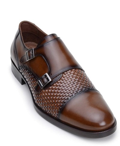 Belvedere Emerson Soft Woven Italian Nappa Leather Shoes in Copper