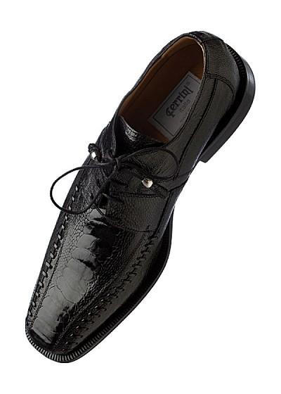 "Ferrini Genuine ""Ostrich Leg"" Square Toe Lace-up Shoe"