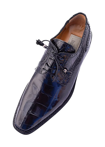 "Ferrini F214 Genuine ""Belly Alligator"" Lace-up Dress Shoe"