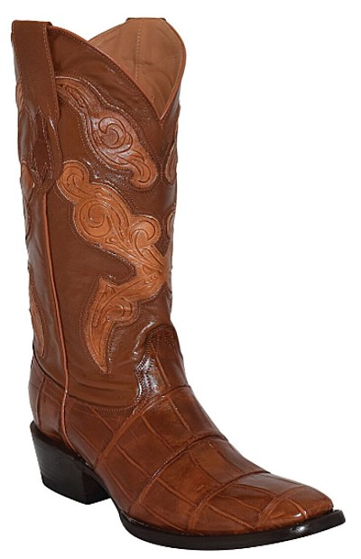 "Belly Alligator FR-Toe 13""  Cognac"