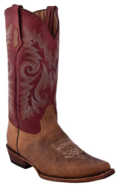 "Roughrider D-Toe> 13"" Distressed Brown"