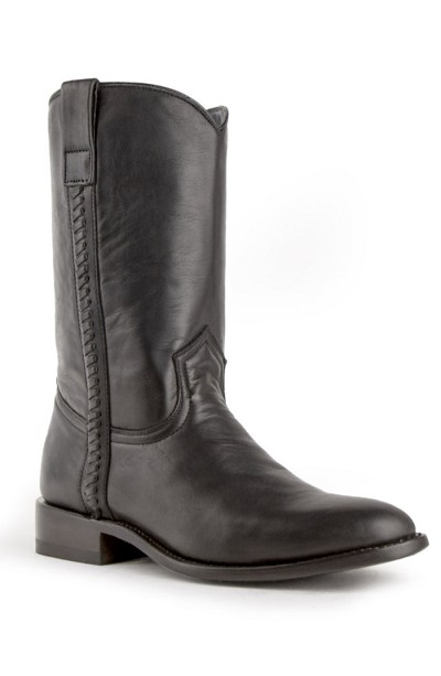 "Ferrini Jackson Cowhide R-Toe> 13"" Western Boots in Black"