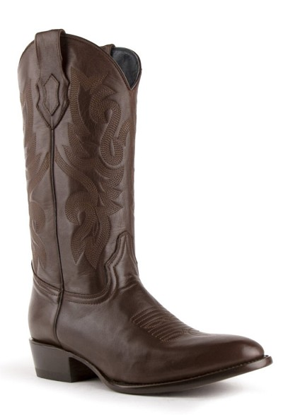 "Ferrini Jackson Cowhide R-Toe> 13"" Western Boots in Brown"