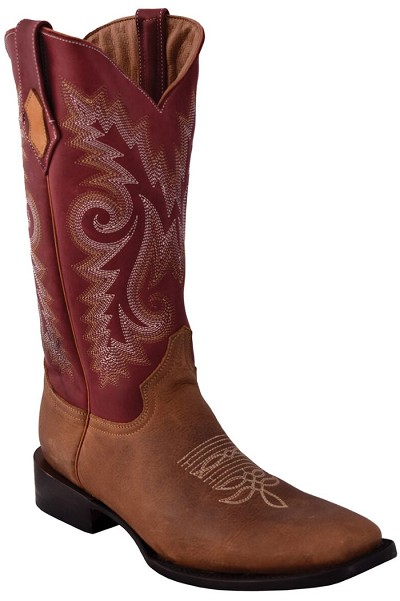 "Roughrider S-Toe> 13"" Distressed Brown"