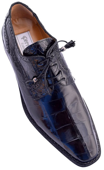 Ferrini Belly Alligator Black
