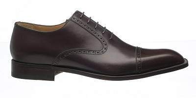 Ferrini French Calf Lace Up Cap Toe Dress Shoe - Brown