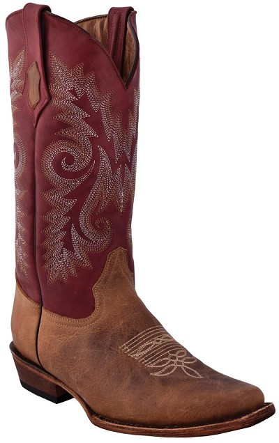 "Roughrider D-Toe> 12"" Distressed Brown"