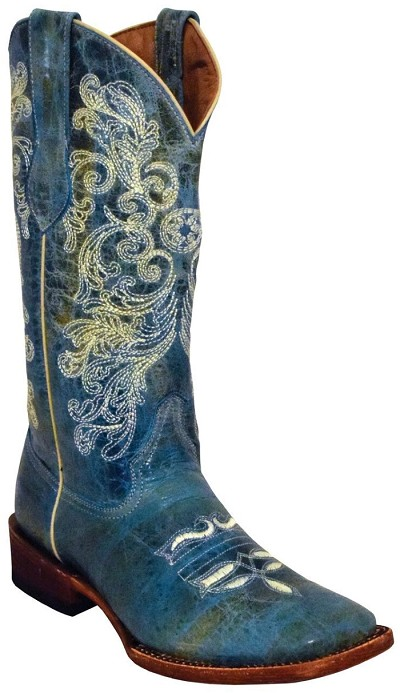 "Southern Charm S-Toe> 12"" Turquoise"