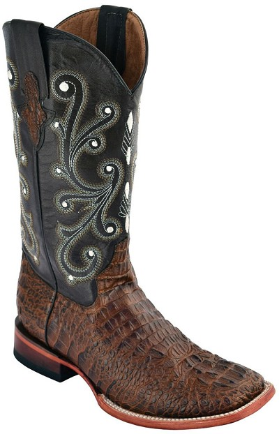 "Woman's Print Crocodile S-Toe> 12"" Sport Rust"