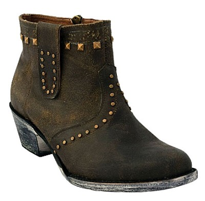 "Studded Bootie C-Toe> 6"" Dark Chocolate"