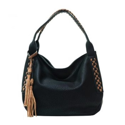 Liz Soto 3282 Hobo with a Tassel & Whipstitch Handbag in 3-Colors