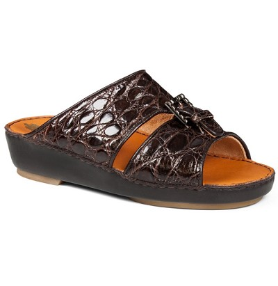 Mauri 1797/3 Kid Croco Flanks in Dk Brown