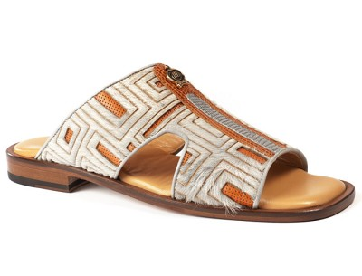 Mauri 1483-6 Perforated Pony / Perforated Calf Tejus Cognac & Ice Grey