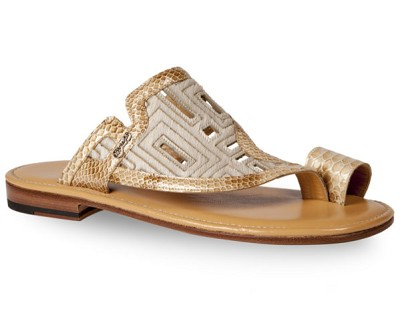 Mauri 1885 Perforated Sandal in Malabo/Pony Beige