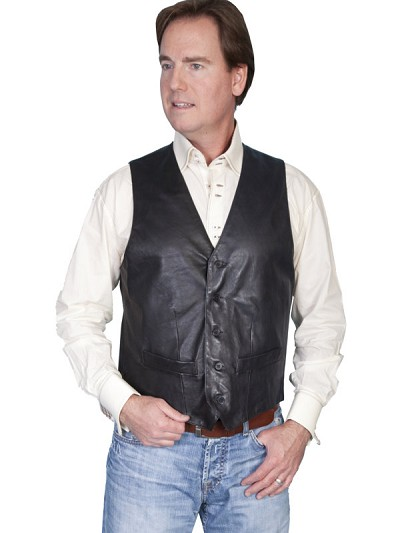 Scully Leather Lambskin Contemporary Vest
