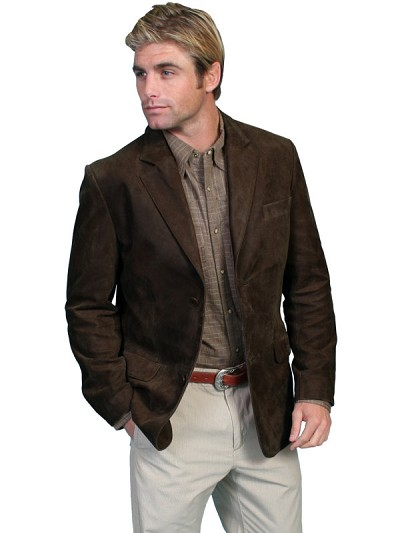 Scully Leather Contemporary Blazer in Brown