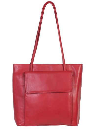 Scully Leather Handbag - Red