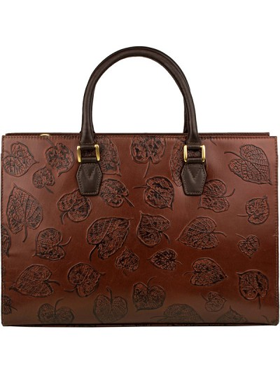 Scully Western Tan Embossed Floral Handbag