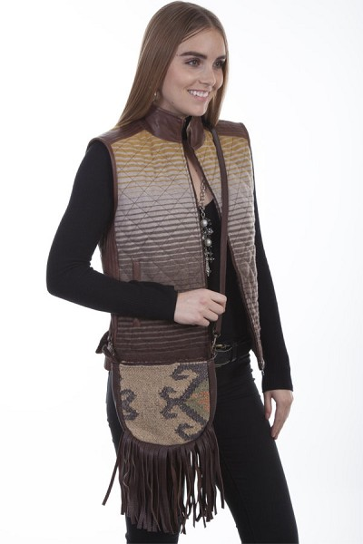 Scully Western Woven Cotton/wool Blend Handbag